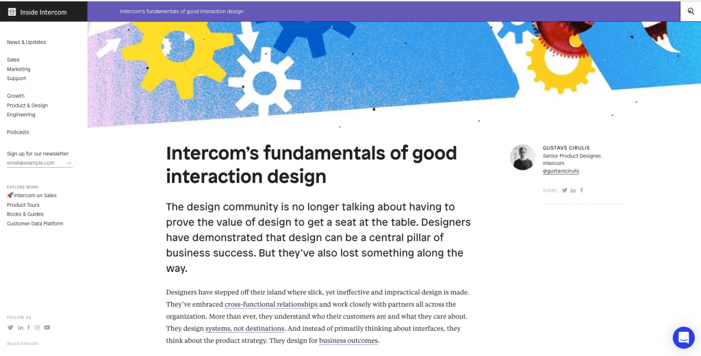 Intercom Blog Design